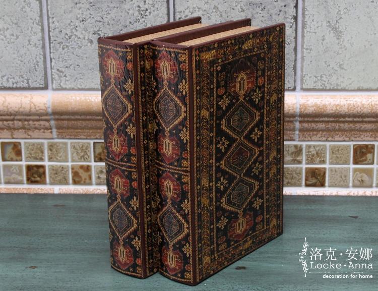 欧式复古做旧仿真书装饰书假书盒装饰摆件