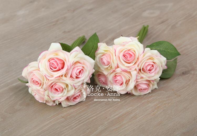 欧式手感保湿玫瑰假花绢花装饰花新娘手
