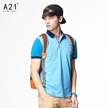 a212014夏装新款男装翻领短袖Polo衫男士纯棉时尚休闲潮流Polo7421332504