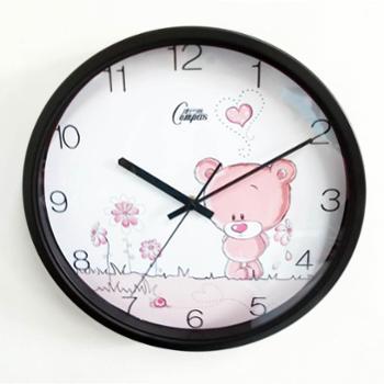 康巴丝石英钟正品包邮丽声机芯时尚12寸创意钟静音扫秒卧室客厅简约现代挂钟钟表