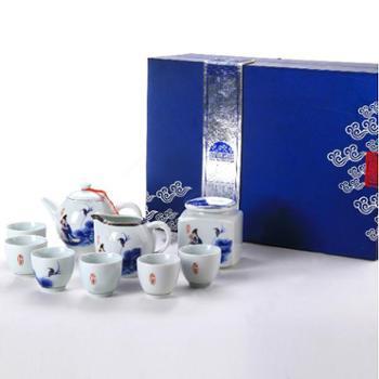 陶立方 德鸿窑仕女将军壶茶具 功夫茶具套装礼盒TF-5073