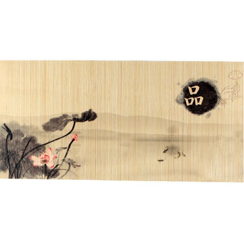 陶立方 台湾手绘水墨竹席茶席竹茶席茶垫 tf-5205 品味人生(小号)