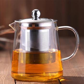 陶立方高硼硅玻璃茶壶不锈钢过滤网花茶壶耐热玻璃壶功夫茶具TF-5880