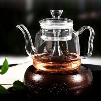 陶立方 玻璃茶壶煮茶器高硼硅玻璃壶花果茶花茶壶水壶TF-5974
