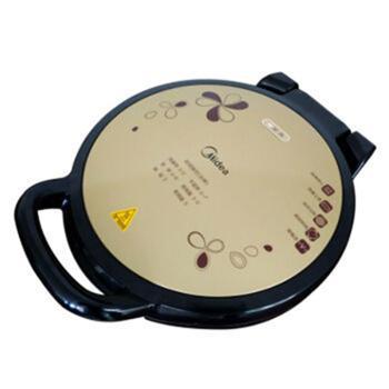 美的电饼铛JHN34Q双面悬浮加热家用电烙饼锅蛋糕机加深加大烤盘金色