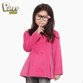 帕菲帕贝PuffyPuppy纯色经典欧式女童呢大衣外套PEDS09P08
