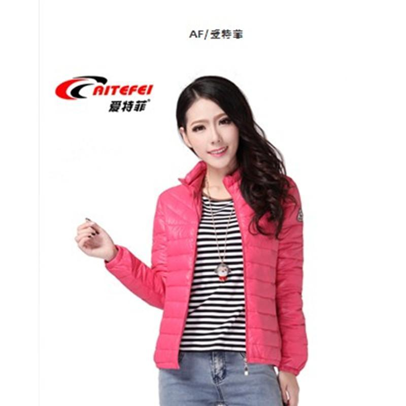 爱特菲女羽绒棉服特价2013新款时尚棉袄外套