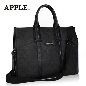 Apple苹果商务手提包男PVC单肩包公文包时尚韩版男包斜挎包大容量