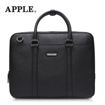 APPLE苹果手提真皮商务斜挎包韩版横款头层牛皮男包大容量