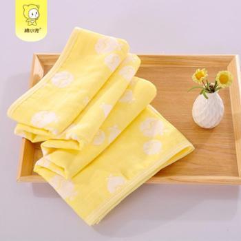 永亮棉小兜纯棉纱布盖被春秋款柔软空调被宝宝浴巾单条装