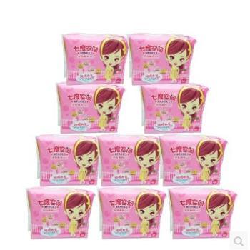 QSC6110七度空间少女纯棉系列日用卫生巾245mm,10片/包*10包,整整100片。