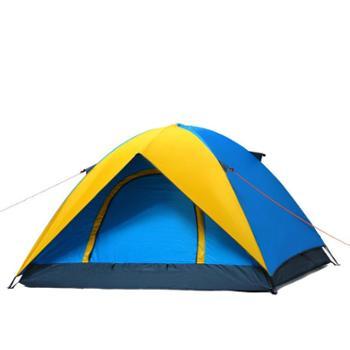 狼行者 户外3-4人双层帐篷 防雨防紫外线露营野营帐篷 LXZ-1026