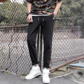 点就 休闲运动裤男春秋宽松休闲夏季薄款直筒6XL裤子大码卫裤跑步长裤