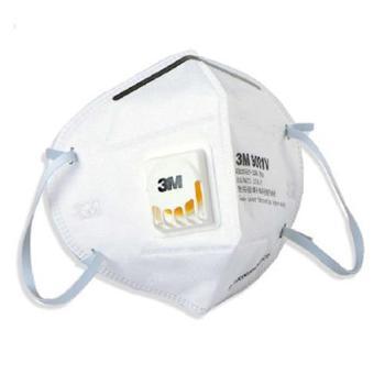 3M折叠耳戴式带呼吸阀防颗粒物口罩9001V(3只装)