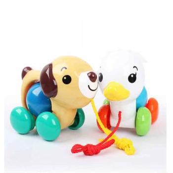 Toyroyal日本皇室玩具 婴儿学步健身手拉小狗/手拉小鸭 手拉动物
