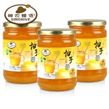 【神农蜂语】 蜂蜜柚子茶 680g/瓶X3瓶装