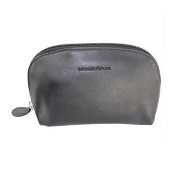 尼诺里拉NINORIVA黑色牛皮革女士零钱包NR60312-2
