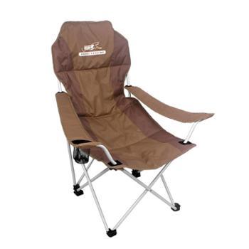 LINGLUZHE领路者LZ-1504折叠椅钓鱼椅沙滩休闲椅简约靠背椅户外扶手椅半躺椅免安装