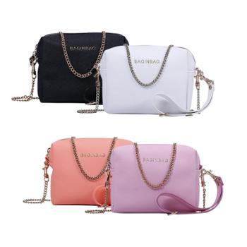 bagINBAG十字纹化妆包手拿包QP201607040黑色/粉色/橘色/白色(四色可选)