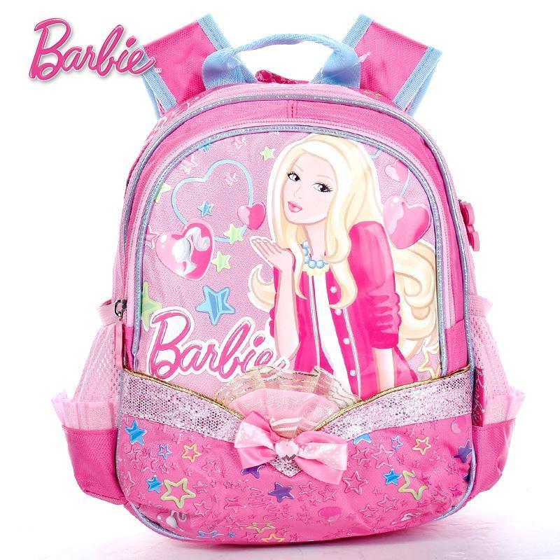 正品迪士尼幼儿童学生双肩背书包芭比幼儿背包