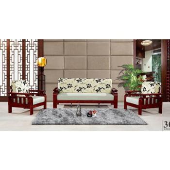 实木沙发组合沙发红色配白色