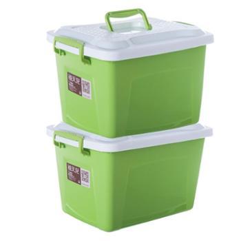 手提收纳整理箱有盖塑料储物盒1个