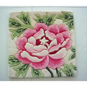 天发 100%纯羊毛手工地毯/胶背毯 坐垫 椅垫 沙发垫 /定做