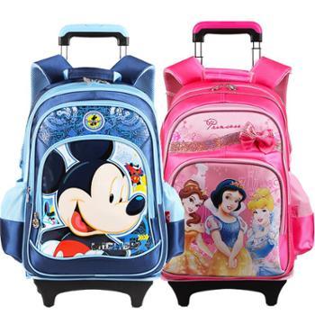 迪士尼米奇公主小学生拉杆书包送防雨罩DB96055