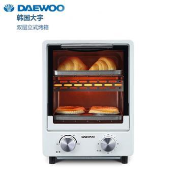 授权正品韩国大宇DAEWOO欧式双层立式电烤箱