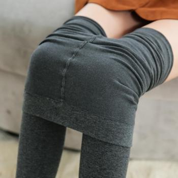 秋装新款马卡龙色精梳棉任意剪修身打底裤单层薄款B086