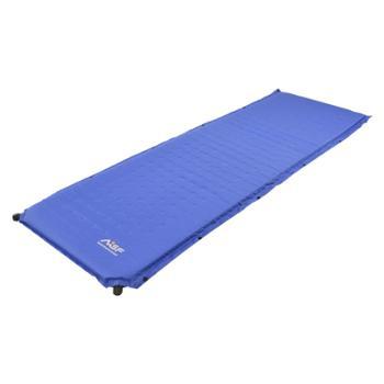 慕山MSF防潮垫自动充气垫加宽加厚5CM户外气垫睡垫单人双人蓝色