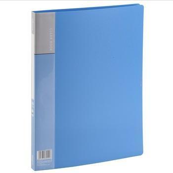 齐心(COMIX)PF30AK 资料册 A4 30袋 蓝色
