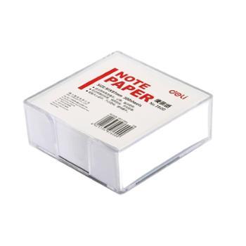 得力便签纸7600 带盒便条纸/记事白纸 规格91*87mm/300张