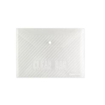 齐心C318文件袋透明按扣袋 A4白色档案袋资料袋 塑料袋收纳袋办公 一个装
