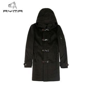 RYMA男装正品冬装新款中长款男士羊毛呢大衣休闲潮款男毛呢外套