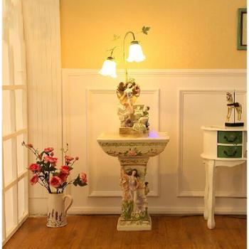 源泉家居结婚礼物卧室客厅摆件家饰创意家居天使流水喷泉加湿器