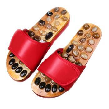 天然鹅卵石足底按摩拖鞋 家居穴位保健鞋足疗鞋