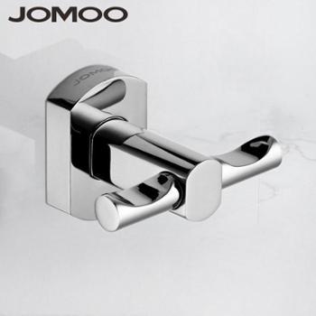 九牧(JOMOO)浴室挂件精铜挂钩单钩毛巾钩衣钩933601银色