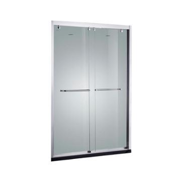 JOMOO 九牧304优质铝材淋浴房整体一字形隔断玻璃浴室M121系列