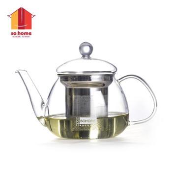 sohome500ml贝蒂茶壶耐热玻璃茶壶花茶壶泡茶壶不锈钢滤网
