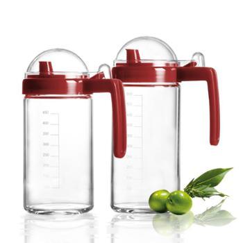 sohome耐热玻璃油瓶套装(600ml+500ml)防漏油醋瓶家用厨房调味瓶酱油醋瓶油壶