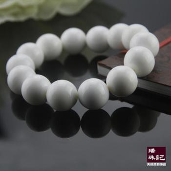 璠珠记洁白系列天然纯白净珠砗磲佛珠手链