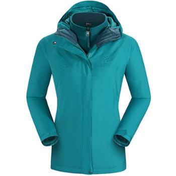Kailas/凯乐石三合一冲锋衣女款户外运动保暖抓绒内胆两件套
