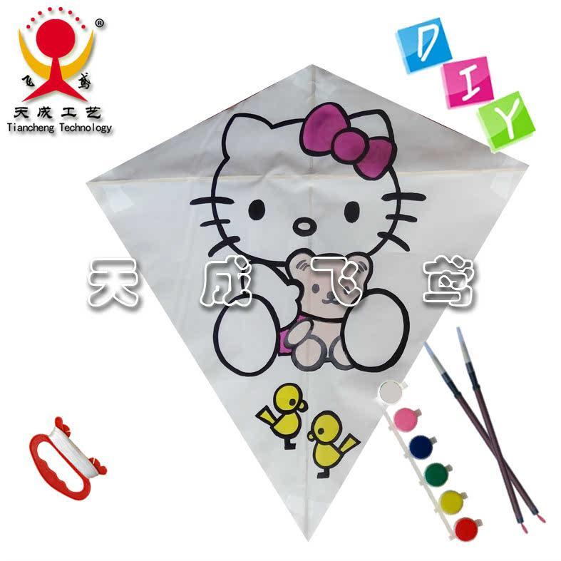 手绘风筝 潍坊风筝 教学风筝 diy风筝 儿童 kitty猫,8