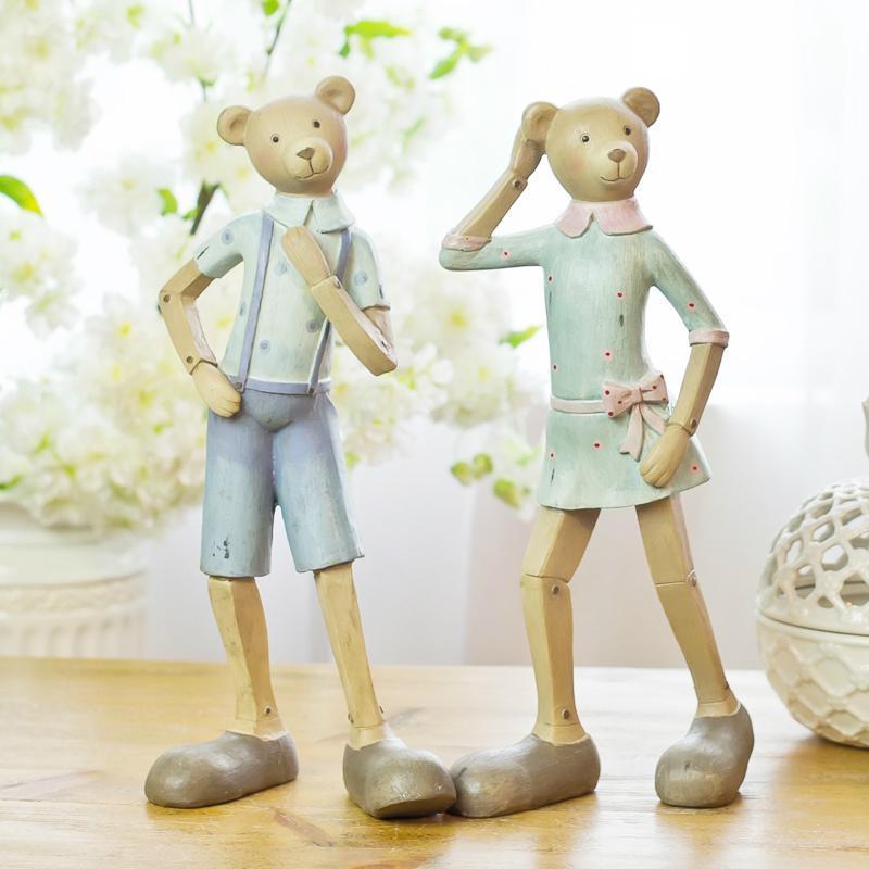 欧式动物家居装饰品 创意树脂工艺品熊摆件卧室电视