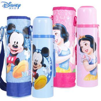 迪士尼500ML儿童不锈钢直饮保温杯配杯套HM3112