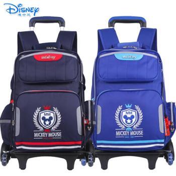 迪士尼儿童小学生三轮可爬楼拉杆书包TGMB0199
