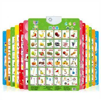 早教凹凸有声挂图全套婴幼儿童玩具宝宝语音早教书籍看图识字卡