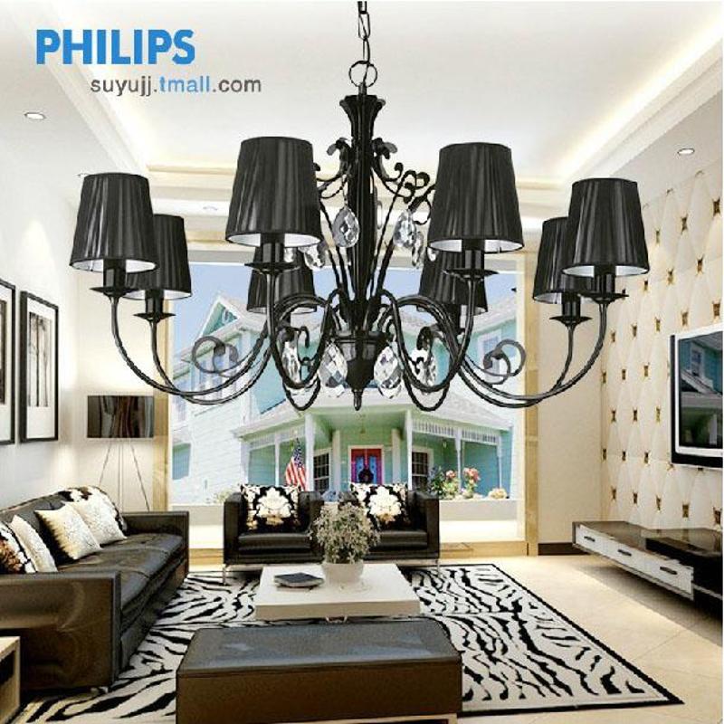 飞利浦 水晶八头吊灯36681 客厅卧室欧式水晶灯简约灯具高清图片