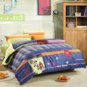 欧可高端色织儿童全棉三四件套 纯棉床单被套绣花卡通男女童床品